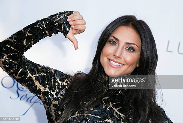 Actress Cassie Scerbo attends the BOO2bullying's Take A Bite Out Of Bullying launch at The LGBT Center on July 30 2015 in Hollywood California
