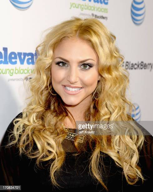 Actress Cassie Scerbo attends the Cee Lo Green and Goodie Mob EYBV campaign finale event with ATT and BlackBerry at Playhouse Hollywood on June 18...