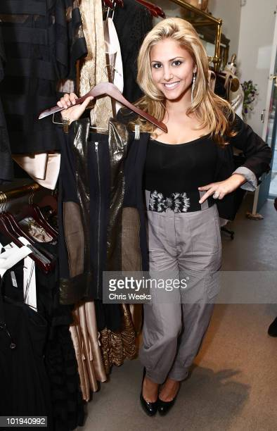 Actress Cassie Scerbo attends the Foley Corinna Melrose Avenue Event With Poshglamcom at Foley Corinna on June 9 2010 in Los Angeles California