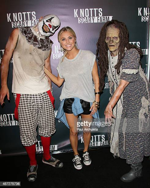Actress Cassie Scerbo attends the Knott's Scary Farm celebrity VIP opening night at Knott's Berry Farm on October 2 2014 in Buena Park California