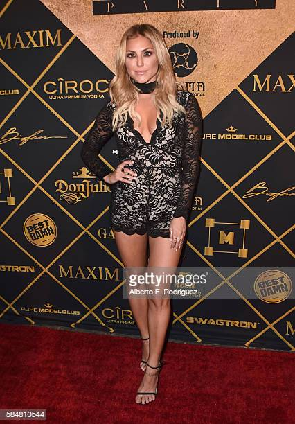 Actress Cassie Scerbo attends the Maxim Hot 100 Party at the Hollywood Palladium on July 30 2016 in Los Angeles California