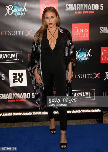 Actress Cassie Scerbo attends the premiere of Sharknado 5 Global Swarming at The Linq Hotel Casino on August 6 2017 in Las Vegas Nevada