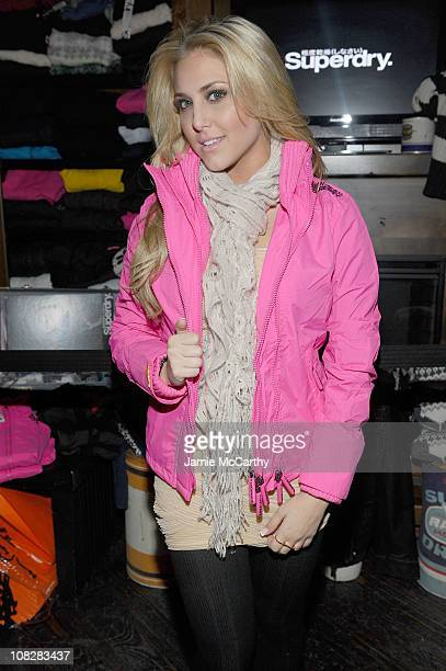 Actress Cassie Scerbo attends the Superdry Experience featuring The Honey Brothers with Cisco Adler and DJ Momjeans at Sundance 2011 on January 23...