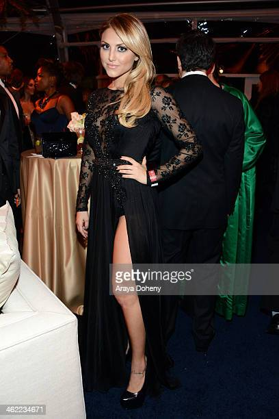 Actress Cassie Scerbo attends The Weinstein Company Netflix's 2014 Golden Globes After Party presented by Bombardier FIJI Water Lexus Laura Mercier...