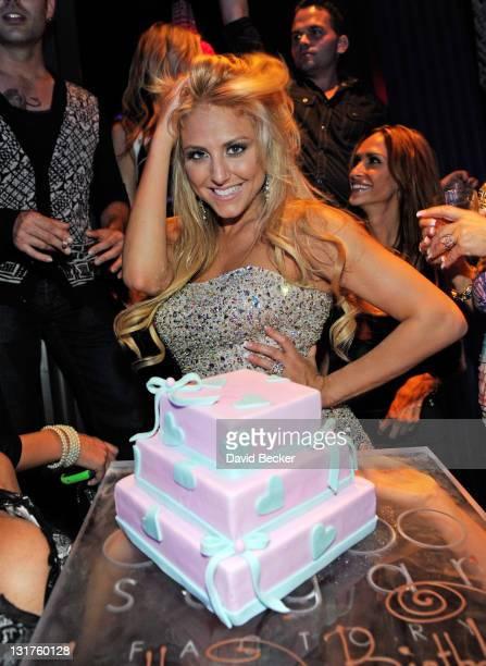 Actress Cassie Scerbo celebrates her birthday at Chateau Nightclub Gardens at the Paris Las Vegas on April 22 2011 in Las Vegas Nevada