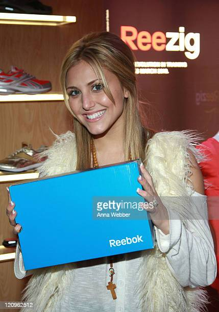 Actress Cassie Scerbo poses at Reebok during the Kari Feinstein Golden Globes Style Lounge at Zune LA on January 15 2010 in Los Angeles California