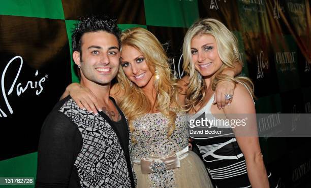 Actress Cassie Scerbo with her brother Johnny Scerbo and her sister Alaina Scerbo arrive to celebrate Cassie's birthday at Chateau Nightclub Gardens...