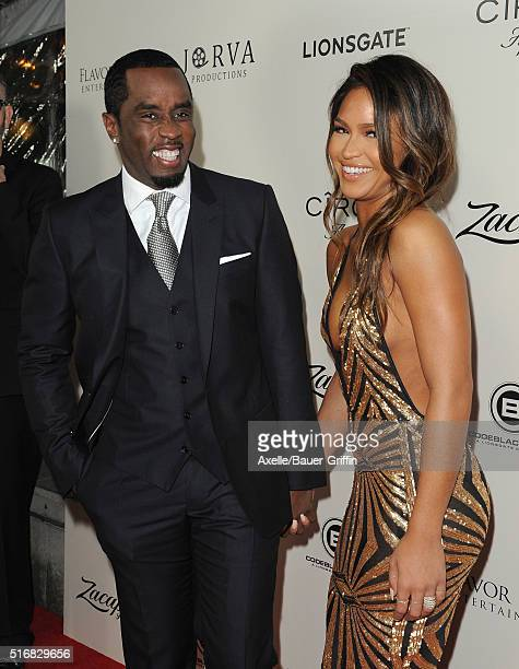 Actress Cassie Ventura and rapper Sean 'Diddy' Combs arrive at the premiere of Lionsgate's 'The Perfect Match' at ArcLight Hollywood on March 7 2016...