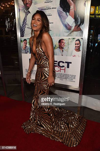 Actress Cassie Ventura attends the premiere of Lionsgate's 'The Perfect Match' at ArcLight Hollywood on March 7 2016 in Hollywood California