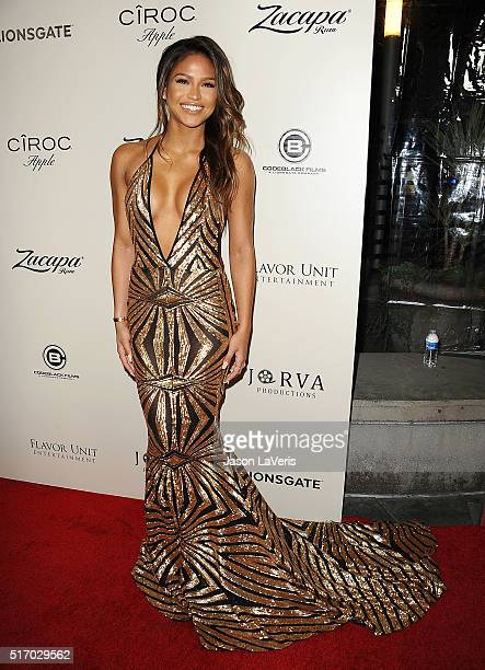 Actress Cassie Ventura attends the premiere of 'The Perfect Match' at ArcLight Hollywood on March 7 2016 in Hollywood California