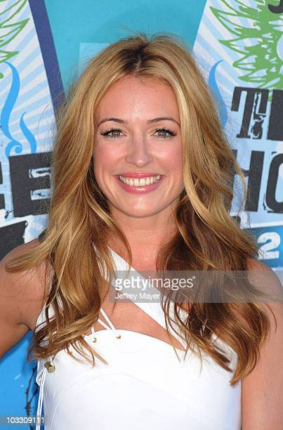 Actress Cat Deeley arrives at the 2010 Teen Choice Awards at Gibson Amphitheatre on August 8 2010 in Universal City California