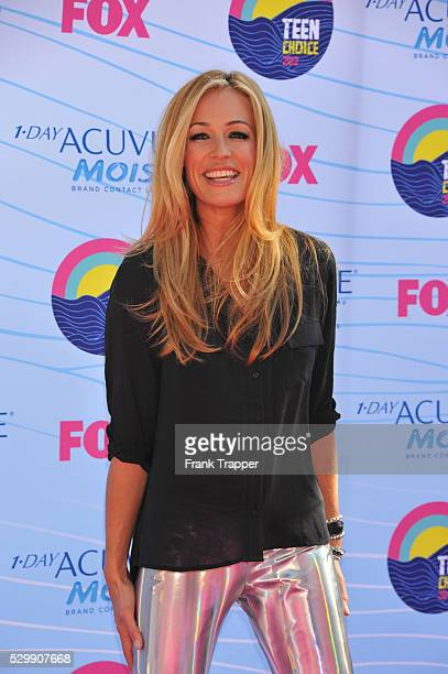Actress Cat Deeley arrives at the 2012 Teen Choice Awards held at the Gibson Amphitheatre in Universal City California
