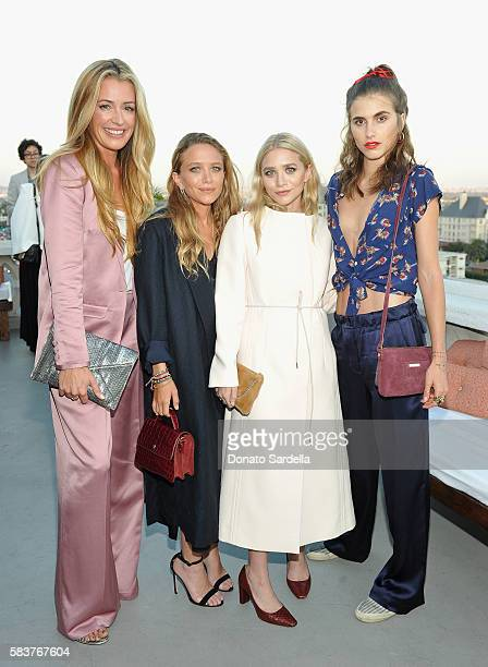 Actress Cat Deeley designers MaryKate Olsen and Ashley Olsen and artist Langley Fox Hemingway attend Elizabeth and James Flagship Store Opening...