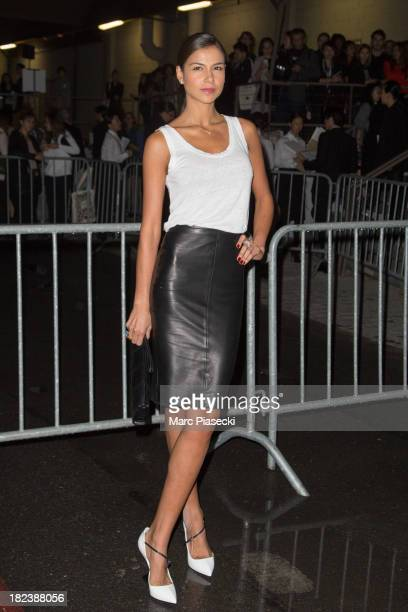 Actress Catalina Denis attends the 'Givenchy' show as part of the Paris fashion week Womenswear 2014 at the Halle Freyssinet on September 29, 2013 in...