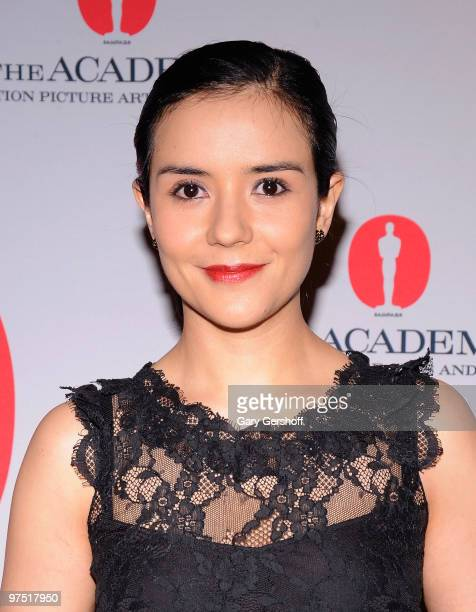 Actress Catalina Sandino Moreno attends the Academy of Motion Picture Arts Sciences New York Oscar night party at GILT at The New York Palace Hotel...