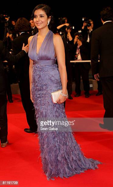 """Actress Catalina Sandino Moreno departs the """"Che"""" premiere at the Palais des Festivals during the 61st International Cannes Film Festival on May 21,..."""
