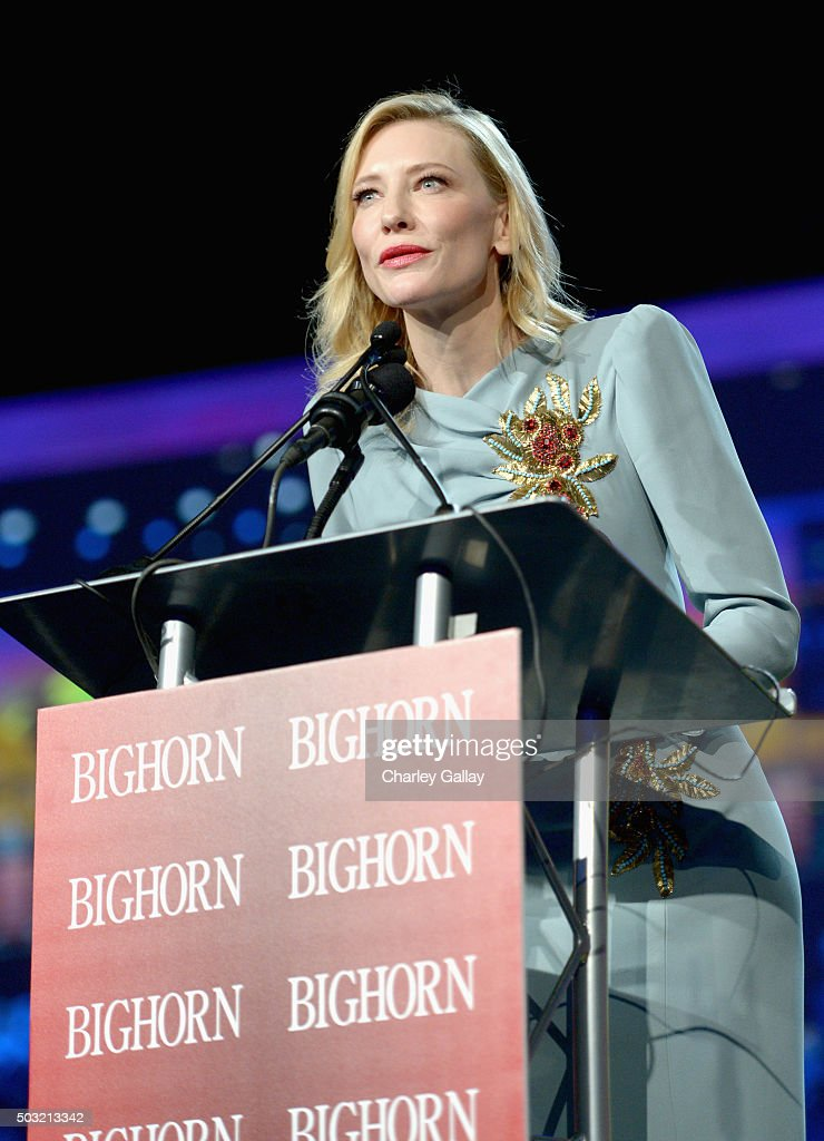 Actress Cate Blanchett accepts the Desert Palm Achievement Award onstage at the 27th Annual Palm Springs International Film Festival Awards Gala at Palm Springs Convention Center on January 2, 2016 in Palm Springs, California.