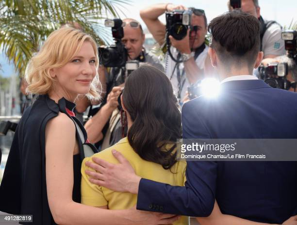 Actress Cate Blanchett actress America Ferrera and actor Jay Baruchel attend the How To Train Your Dragon 2 photocall at the 67th Annual Cannes Film...
