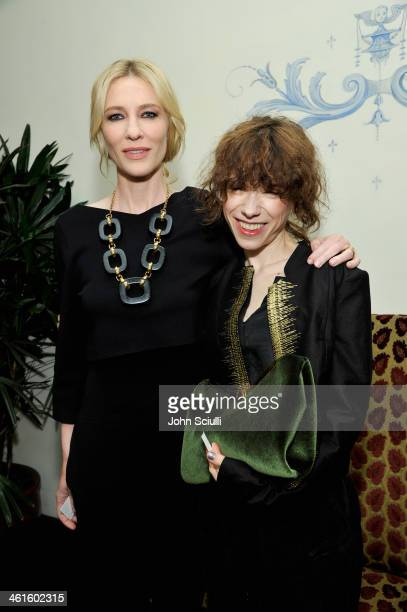 Actress Cate Blanchett and actress Sally Hawkins attend the W Magazine celebration of The 'Best Performances' Portfolio and The Golden Globes with...