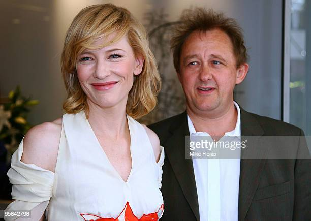 Actress Cate Blanchett and Andrew Upton arrive at the 2009 Sydney Theatre Awards rewarding work from the 2009 calendar at Club Swans on January 18...