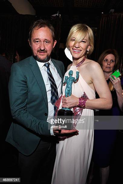 Actress Cate Blanchett and Andrew Upton attend the 20th Annual Screen Actors Guild Awards at The Shrine Auditorium on January 18 2014 in Los Angeles...