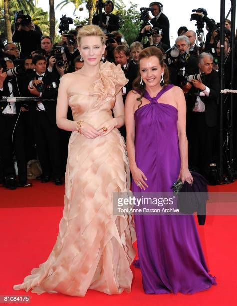 """Actress Cate Blanchett and Caroline Gruosi-Scheufele arrive at the """"Blindness"""" premiere during the 61st Cannes International Film Festival on May 14,..."""