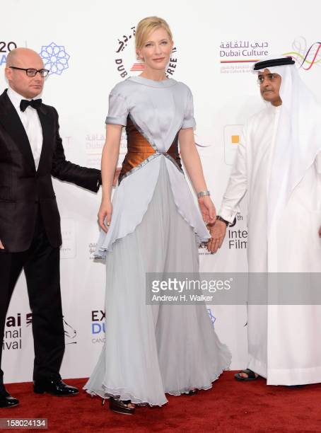 Actress Cate Blanchett and DIFF Chairman Abdulhamid Juma attend the Life of PI Opening Gala during day one of the 9th Annual Dubai International Film...