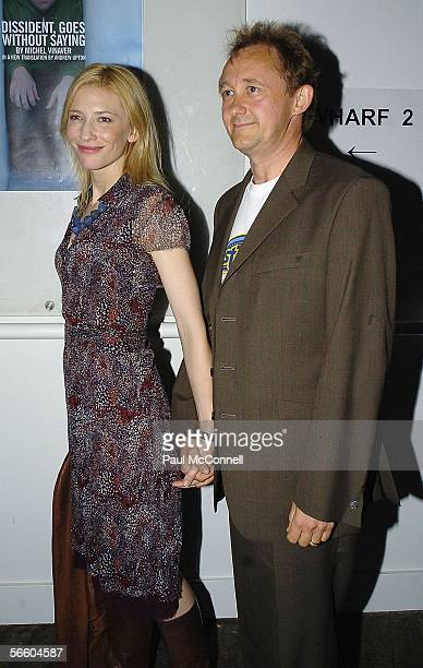 Actress Cate Blanchett and Director Husband Andrew Upton attends the opening night of Dissident Goes Without Saying at the Sydney Theatre Company on...