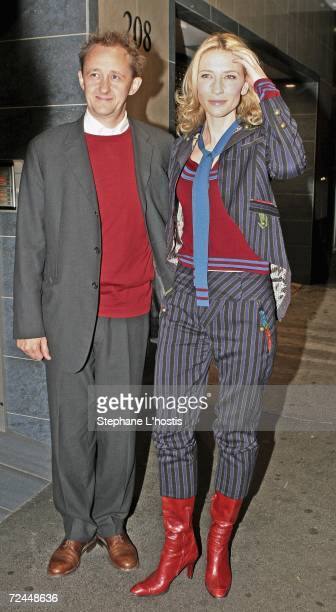 Actress Cate Blanchett and her husband Andrew Upton arrive at the private screening of her latest film Babel screened in conjunction with her...