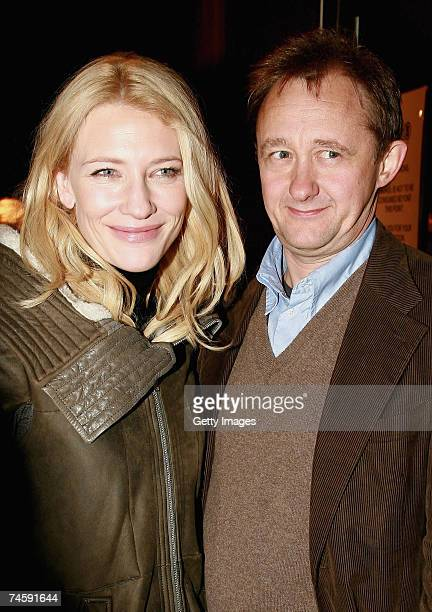 Actress Cate Blanchett and her husband Andrew Upton arrive for the opening night of Exit The King at the Belvoir Street Theatre on June 13 2007 in...