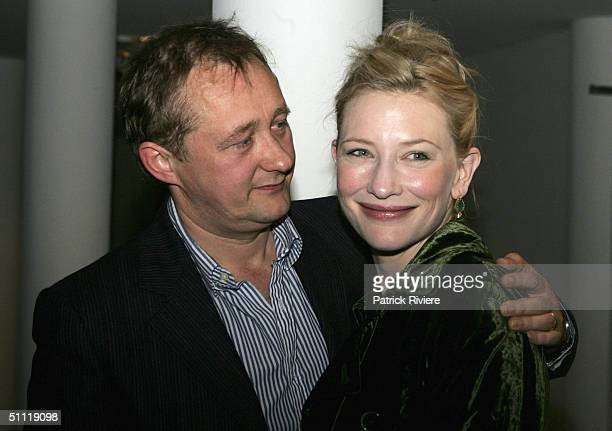 Actress Cate Blanchett and her husband director Andrew Upton arrive during the opening night party for Hedda Gabler at the Sydney Theatre Company...