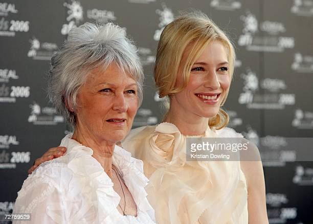 Actress Cate Blanchett and her mother arrive at the L'Oreal Paris 2006 AFI Awards at the Melbourne Exhibition Centre on December 7, 2006 in...