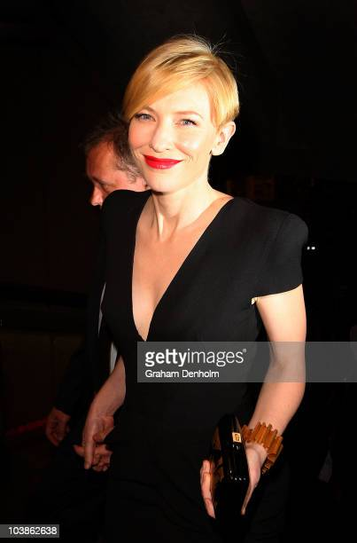 Actress Cate Blanchett and husband Andrew Upton arrive at the 2010 Helpmann Awards at the Sydney Opera House on September 6 2010 in Sydney Australia