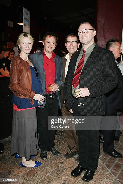Actress Cate Blanchett and Husband Andrew Upton Neil Armfield and Ian Sinclair arrive for the opening night of Kate Mulvany's The Seed at the Belvoir...