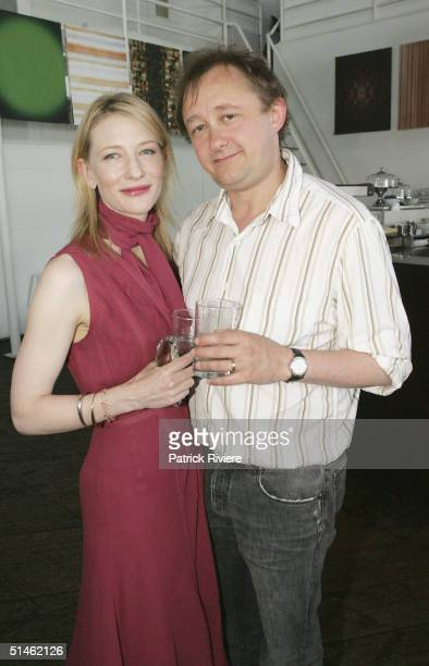 Actress Cate Blanchett and husband director Andrew Upton attend the Sydney Theatre Company 2005 Season Launch at the Wharf Restaurant on October 11...