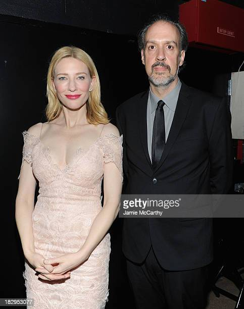 Actress Cate Blanchett and Kent Jones Director of Programming for the New York Film Festival attend the Gala Tribute To Cate Blanchett during the...