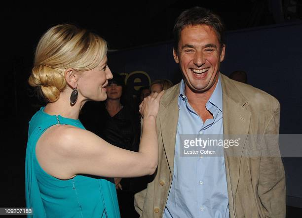 Actress Cate Blanchett and producer Tim Bevan arrives to the premiere of Elizabeth The Golden Age at Universal City Walk on October 1 2007 in...