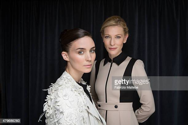 Actress Cate Blanchett and Rooney Mara are photographed are for The Hollywood Reporter on May 15 2015 in Cannes France