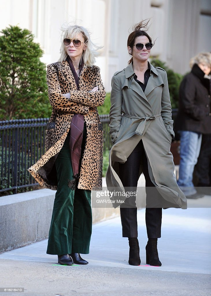 Actress Cate Blanchett and Sandra Bullock are seen on