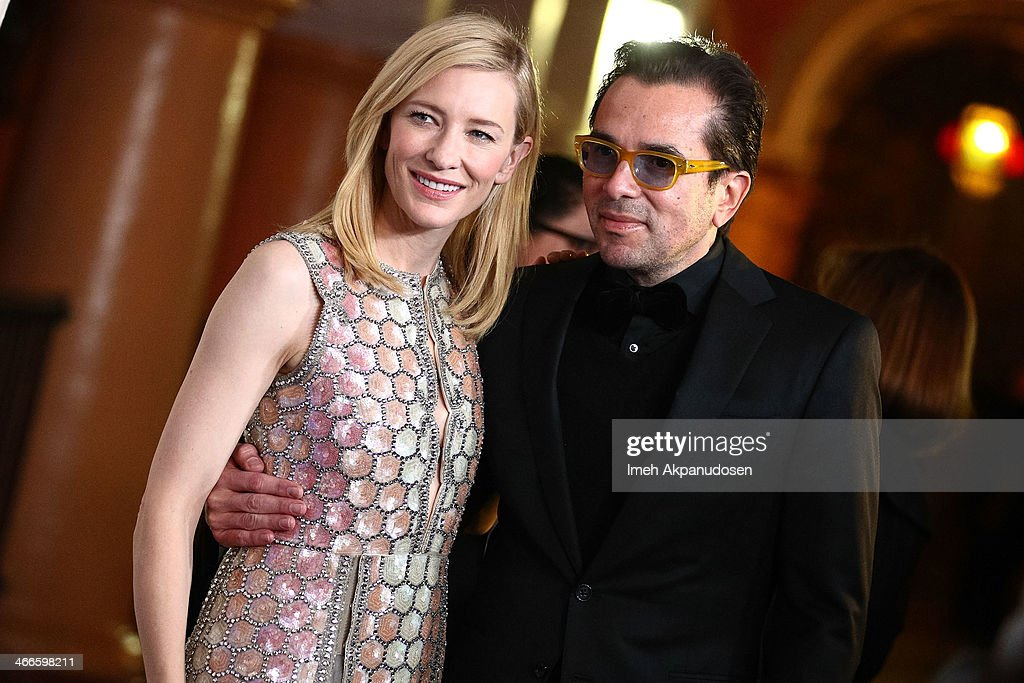 Actress Cate Blanchett (L) and SBIFF director Roger Durling attend the presentation of the Outstanding Performer Of The Year Award at the Arlington Theatre during the 29th Santa Barbara International Film Festival on February 1, 2014 in Santa Barbara, California.