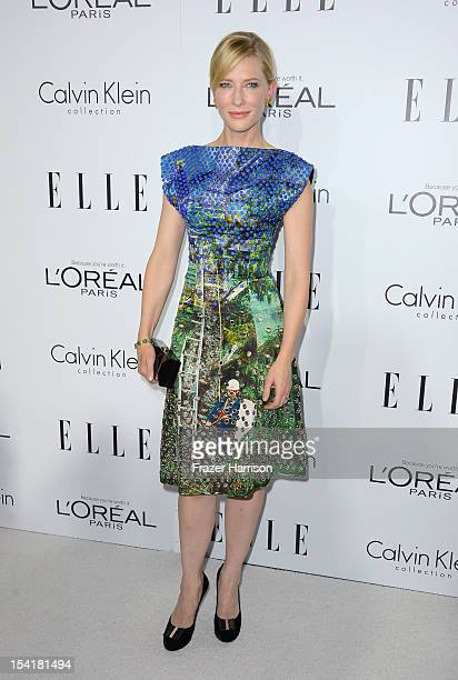 Actress Cate Blanchett arrives at ELLE's 19th Annual Women In Hollywood Celebration at the Four Seasons Hotel on October 15 2012 in Beverly Hills...