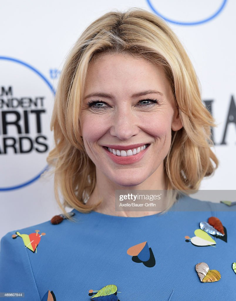 Actress Cate Blanchett arrives at the 2015 Film Independent Spirit Awards on February 21, 2015 in Santa Monica, California.