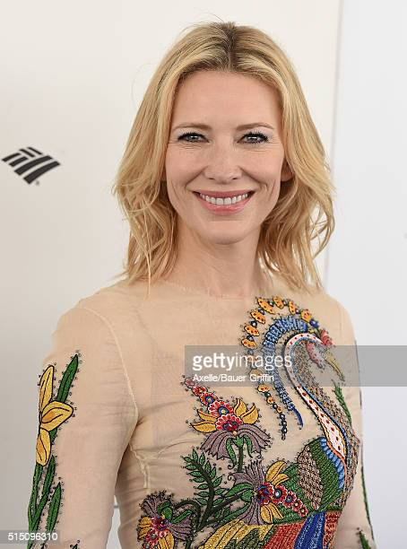 Actress Cate Blanchett arrives at the 2016 Film Independent Spirit Awards on February 27 2016 in Los Angeles California