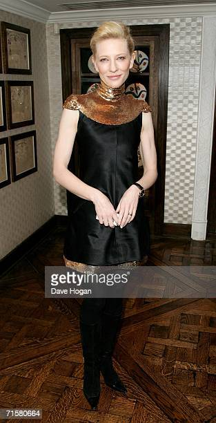 Actress Cate Blanchett arrives at the after party following the UK premiere of ''Volver'' at Mirabelle on August 3 2006 in London England