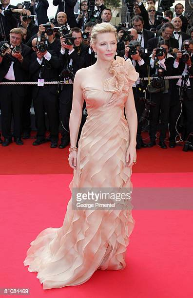 Actress Cate Blanchett arrives at the Blindness premiere during the 61st Cannes International Film Festival on May 14 2008 in Cannes France