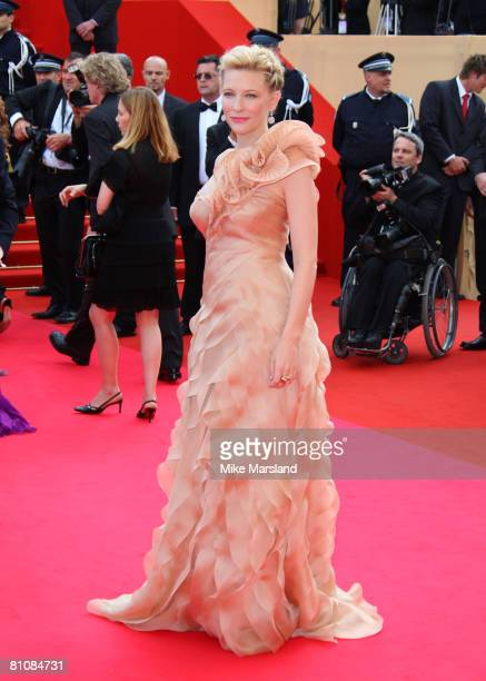 """Actress Cate Blanchett arrives at the """"Blindness"""" premiere during the 61st Cannes International Film Festival on May 14, 2008 in Cannes, France."""