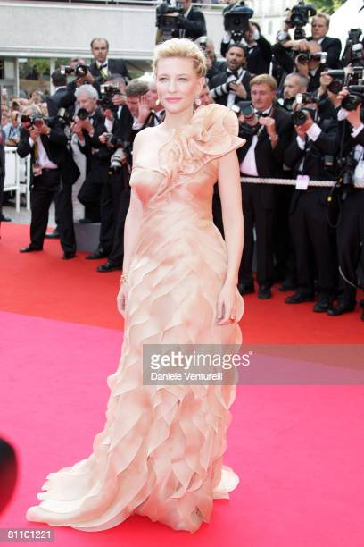 Actress Cate Blanchett arrives at the 'Blindness' premiere during the 61st Cannes International Film Festival on May 14 2008 in Cannes France