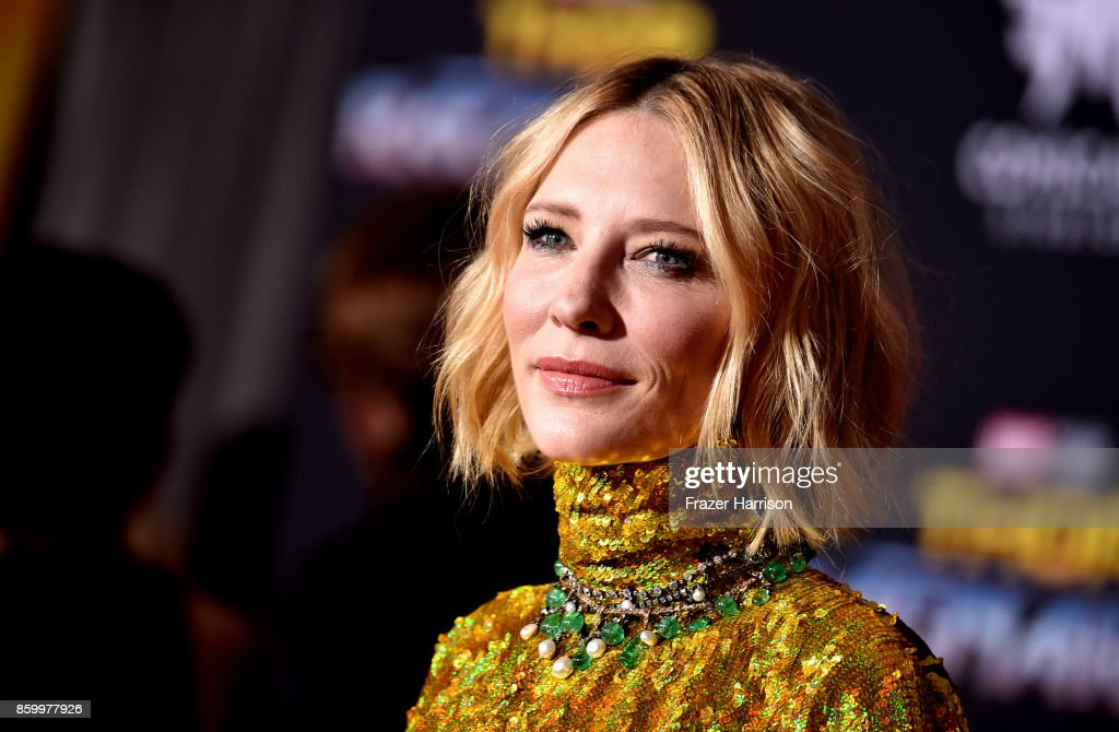 Actress Cate Blanchett arrives at the Premiere Of Disney And Marvel's 'Thor: Ragnarok' - Arrivals on October 10, 2017 in Los Angeles, California.