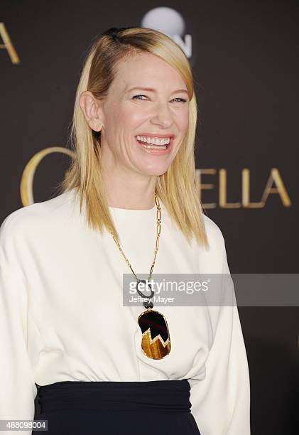 Actress Cate Blanchett arrives at the World Premiere of Disney's 'Cinderella' at the El Capitan Theatre on March 1 2015 in Hollywood California