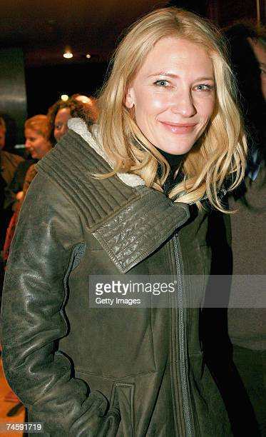 Actress Cate Blanchett arrives for the opening night of Exit The King at the Belvoir Street Theatre on June 13 2007 in Sydney Australia